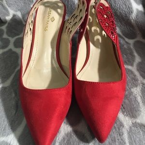 Red pointed heels! Size 7.5